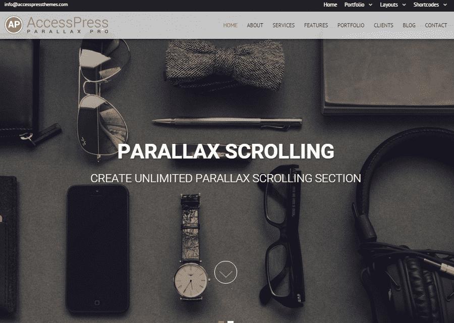 AccessPress Parallax Pro