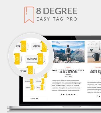 8 Degree Easy Tags Pro - WordPress Tags Designer Premium Plugin