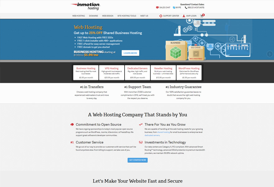 InMotion - Top WordPress Hosting Solutions Comparison