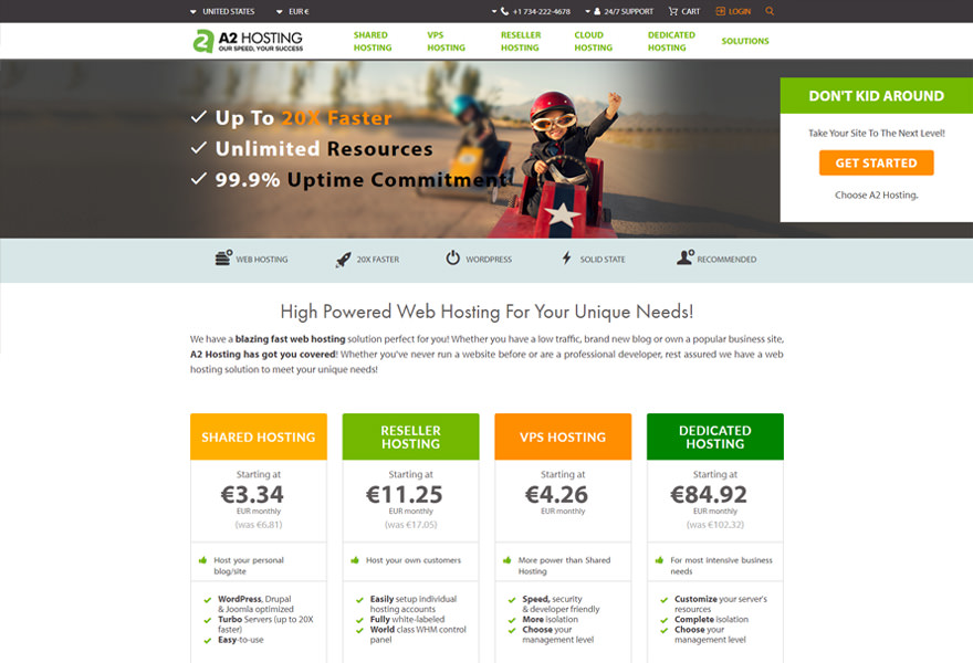 A2 Hosting - Top WordPress Hosting Solutions Comparison