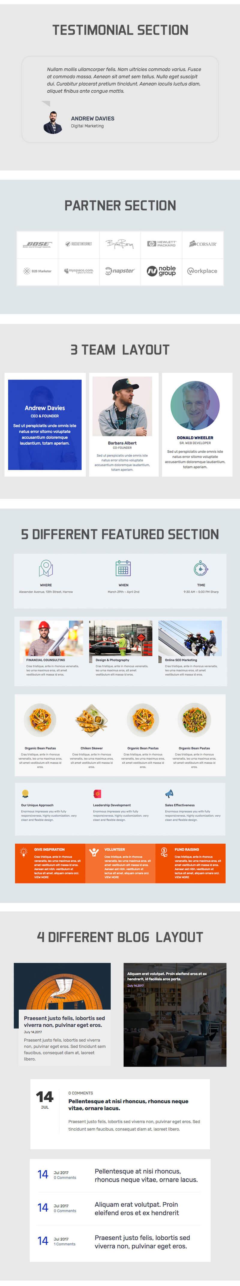 The100 – Best free multipurpose and multi-layout WordPress Theme