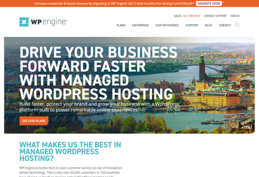 WPEngine - Top WordPress Hosting Solutions Comparison