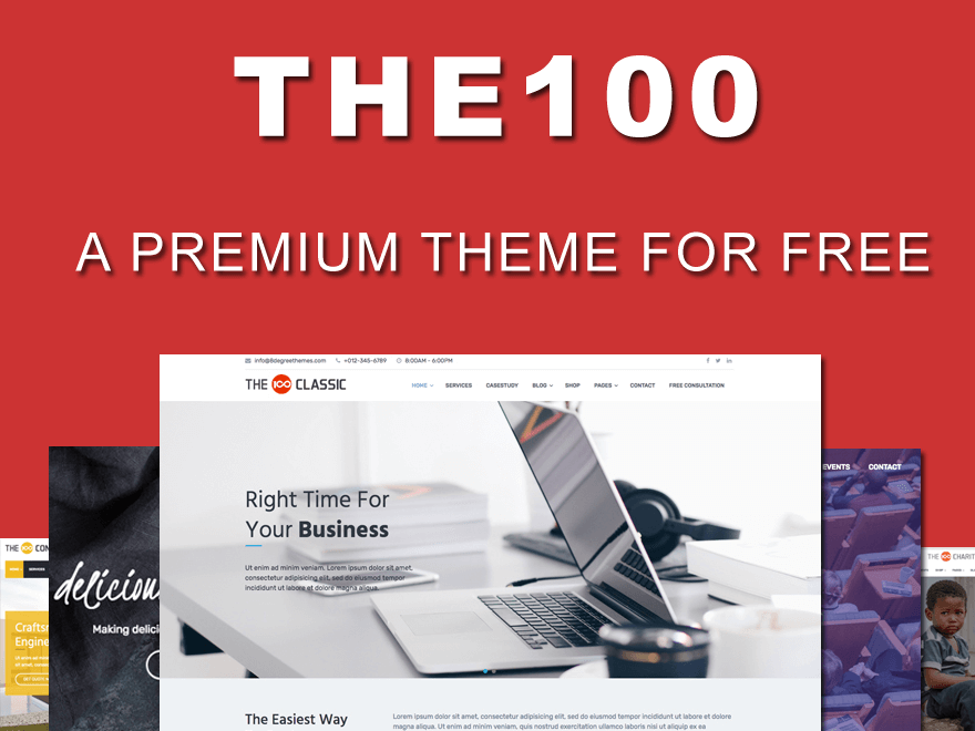 The100 - Best Free WordPress Theme