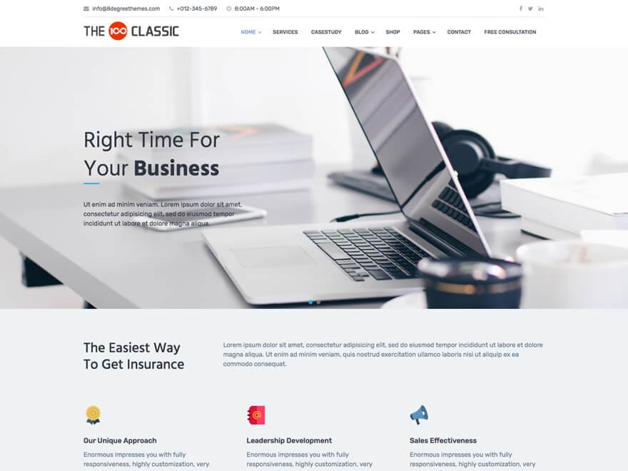 The100 WordPress Theme - Classic Layout