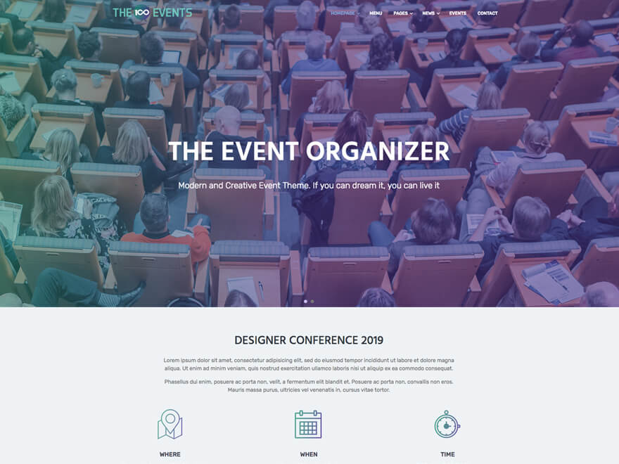 The100 WordPress Theme - Event Layout