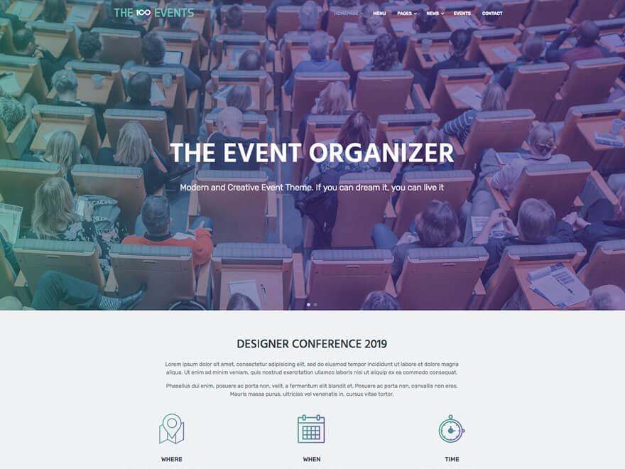 The100 WordPress Theme - Event Layout