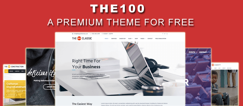 The100 - Best Free WordPress Multipurpose Theme