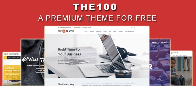 The100 - Best Free WordPress Multipurpose Theme