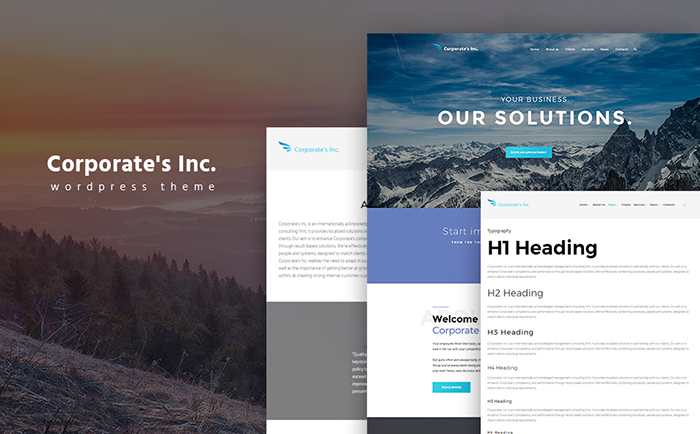 Corporate's Inc WordPress Theme
