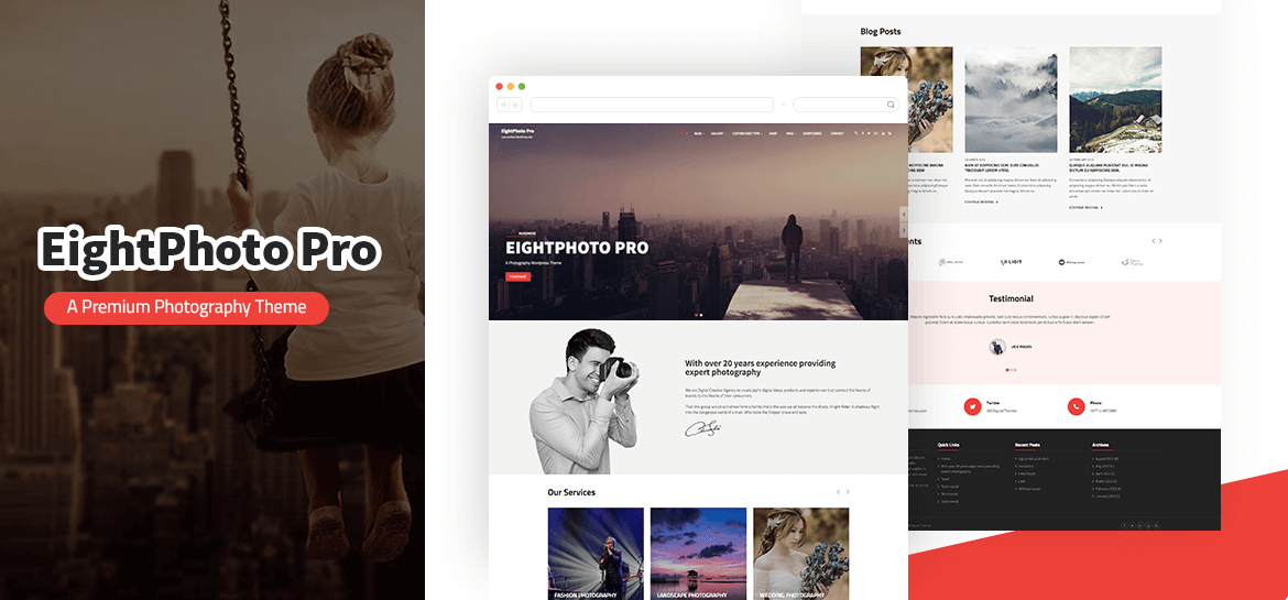 EightPhoto Pro – Best Premium WordPress Photography Theme