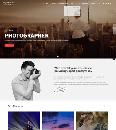 EightPhoto Pro - Best Premium WordPress Photography Theme