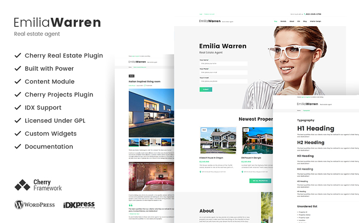 Emilia Warren - Real Estate WordPress Theme
