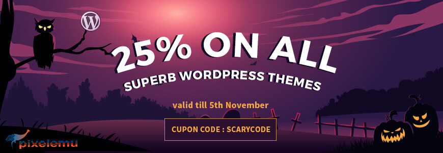 Pixelemu - WordPress Deals and Discounts for Halloween
