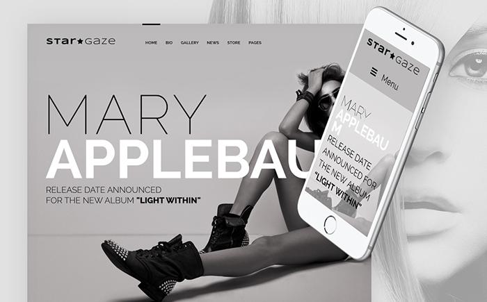 Stargaze - Media and Celebrity Responsive WordPress Theme