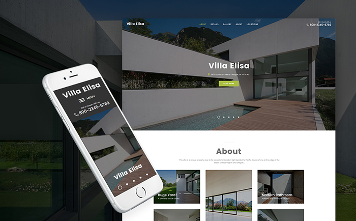 Villa Elisa - Real Estate Responsive WordPress Theme