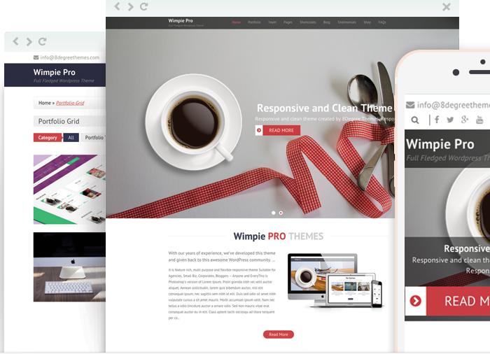 Wimpie Pro - Clean WordPress Theme