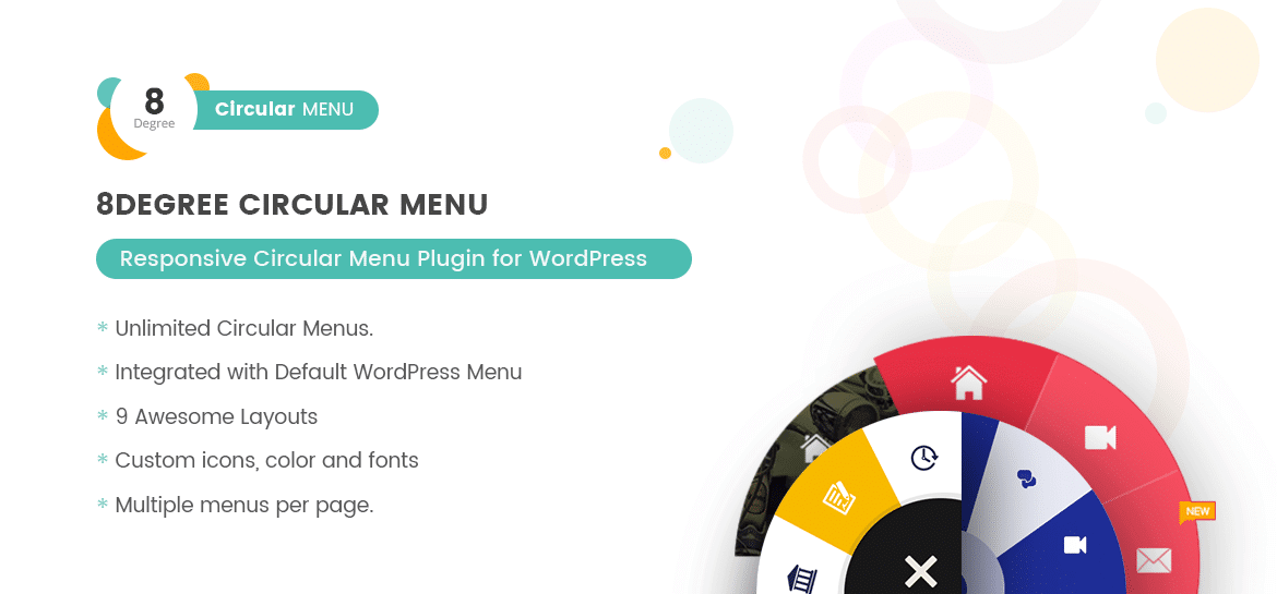 Eight Degree Circular Menu - Floating Circular Navigation