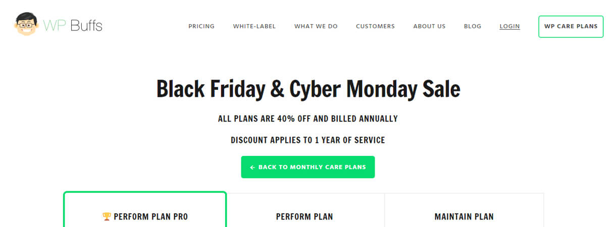 WP Buffs-WordPress Black Friday and Cyber Monday Deals