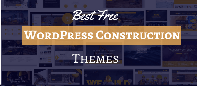 Best Free WordPress construction themes