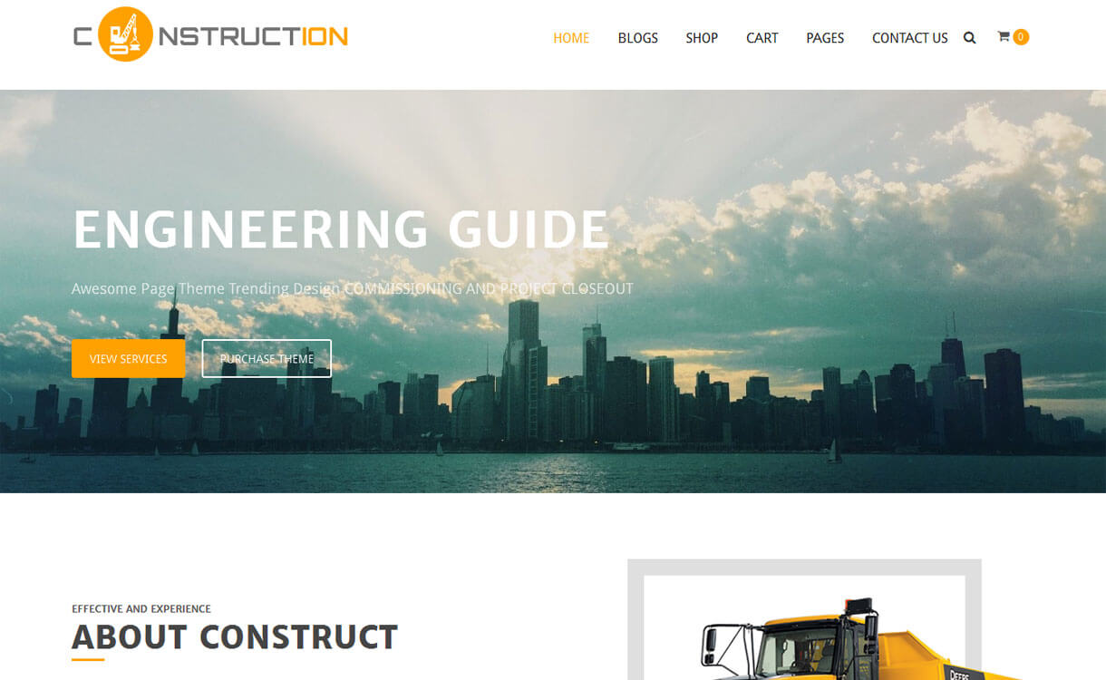 Construction-Free Construction WordPress Theme