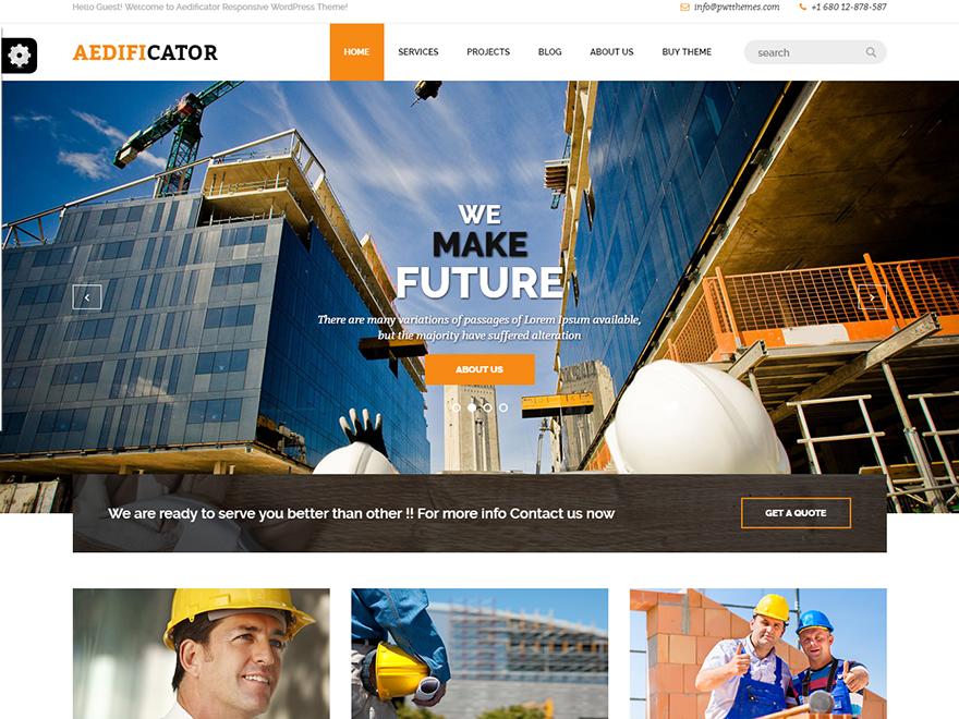 Aedificator-Free Construction WordPress Theme