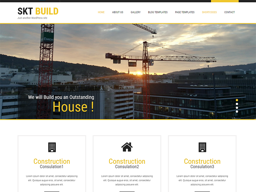 Build Lite-Free Construction WordPress Theme