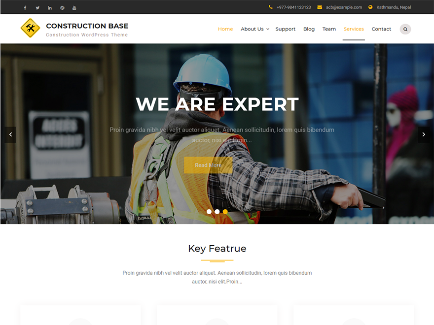 Construction Base-Free Construction WordPress Theme