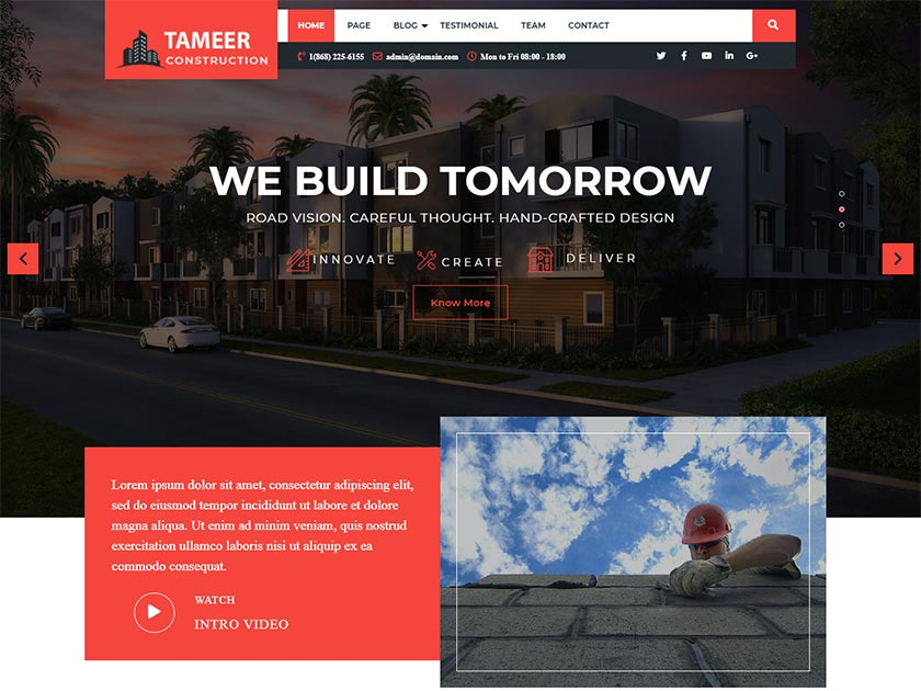 tameer-construction-free-wordpress-theme