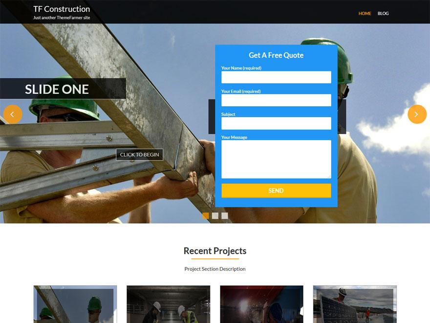 TF Construction-Free Construction WordPress Theme