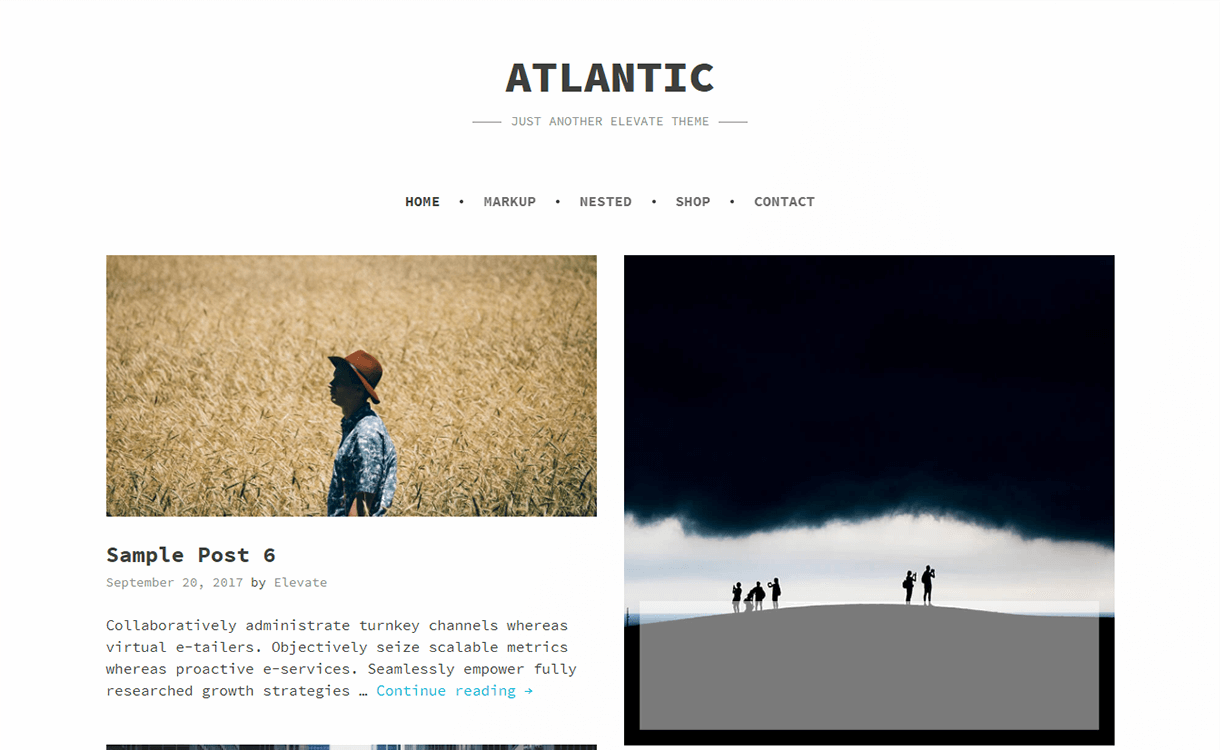 Atlantic-Free Photography WordPress Theme