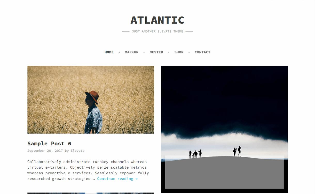Atlantic-Free Photography WordPress Theme