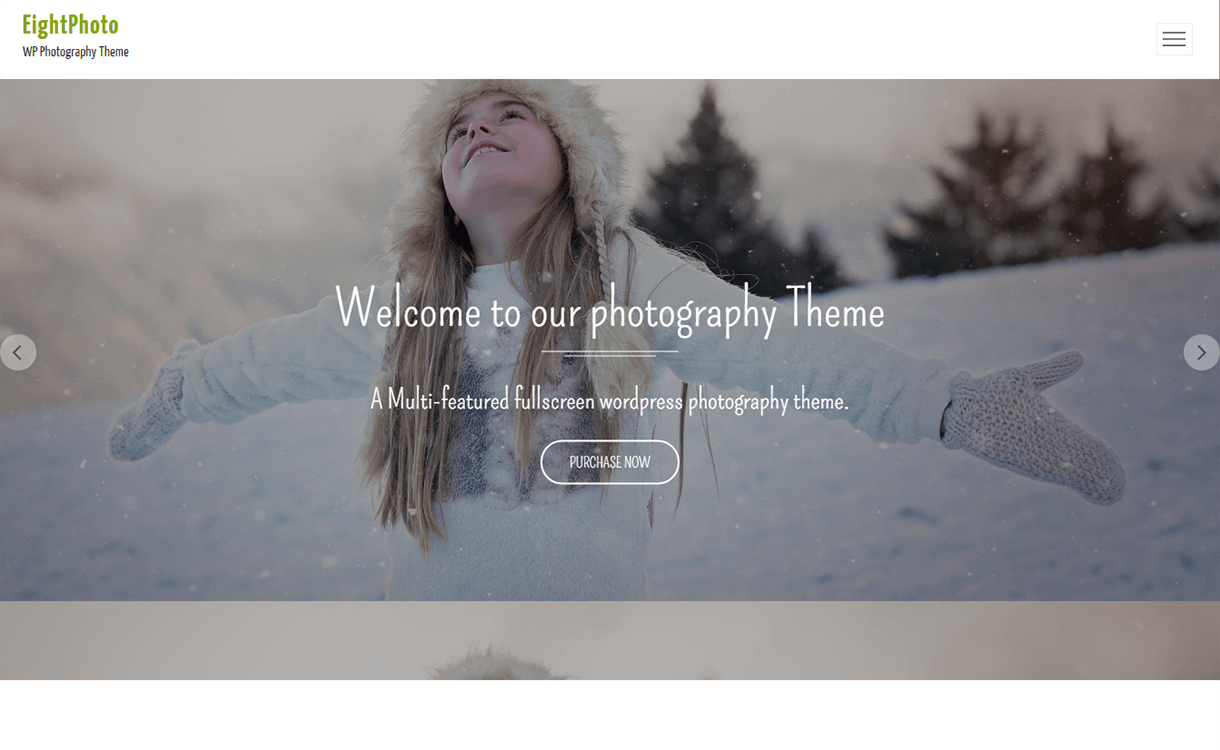 EightPhoto-Free Photography WordPress Theme