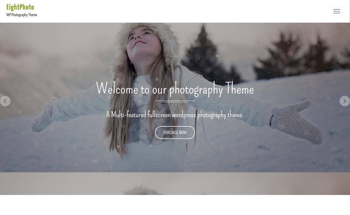 EightPhoto-Free Photography WordPress Theme