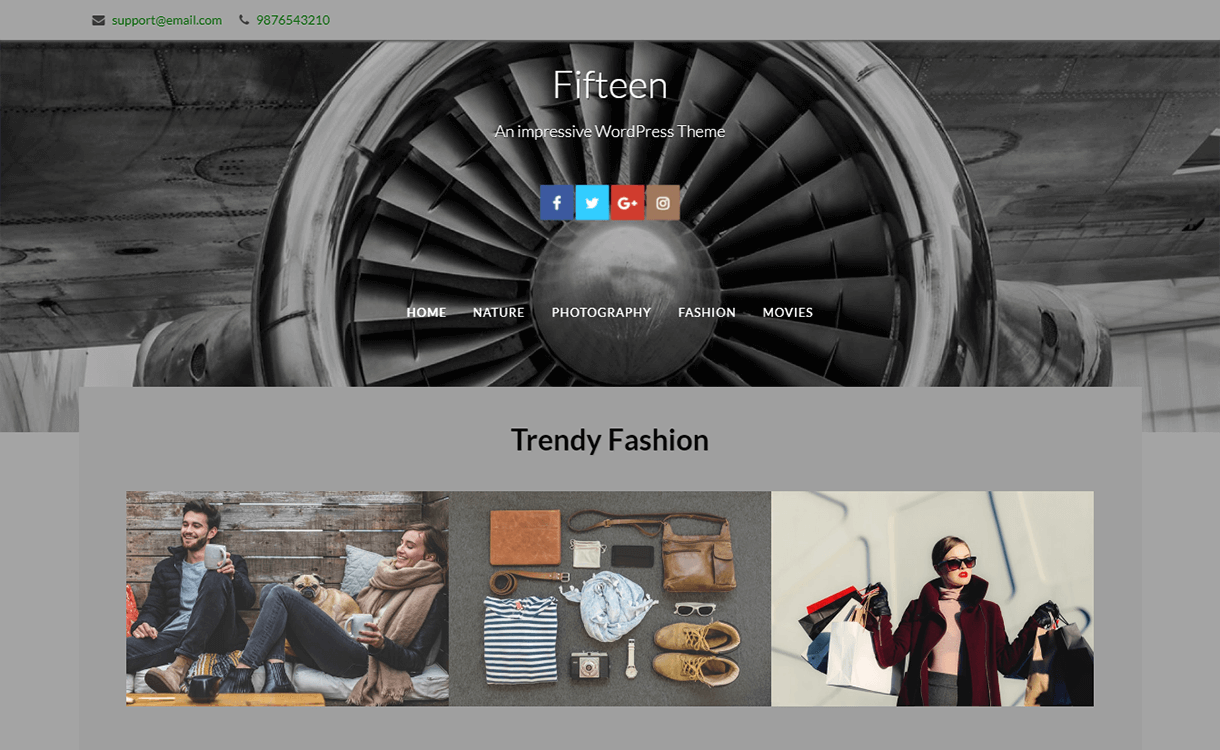 Fifteen-Free Photography WordPress Theme