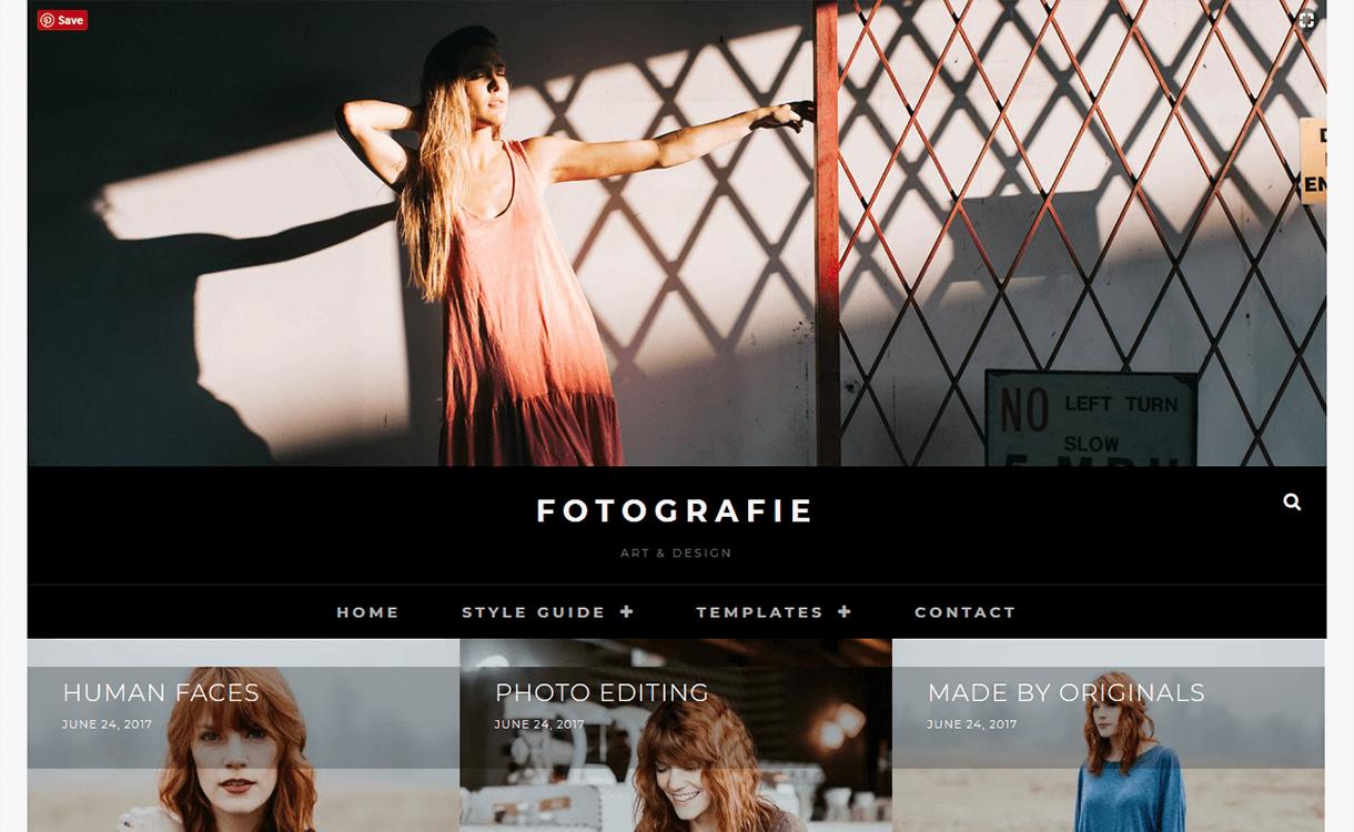 Fotografie-Free Photography WordPress Theme