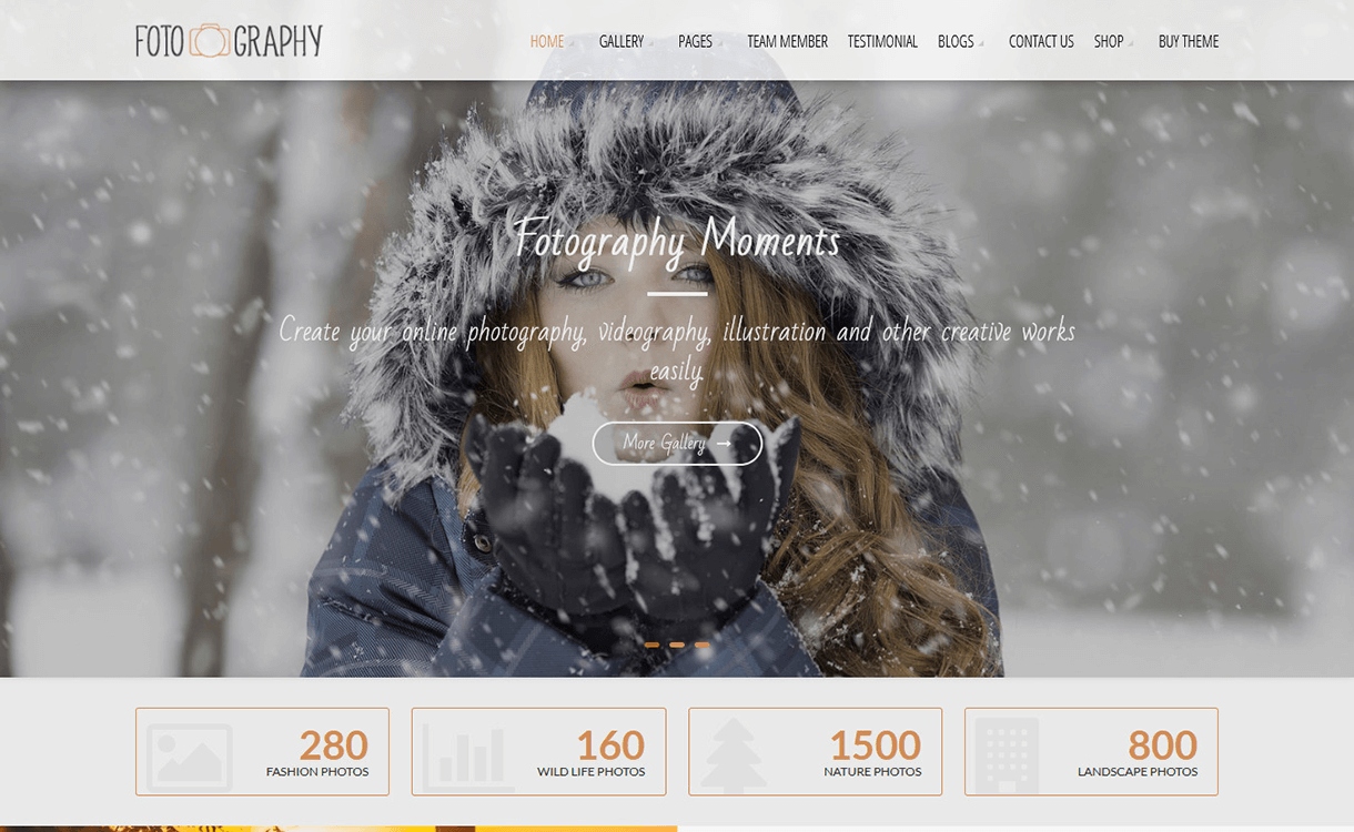 Fotography Lite-Free Photography WordPress Theme