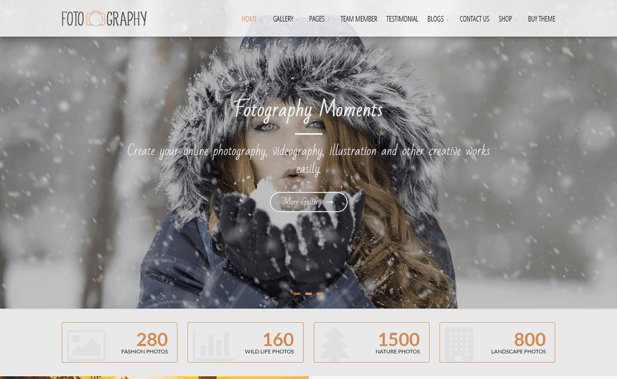 Fotography Lite-Free Photography WordPress Theme