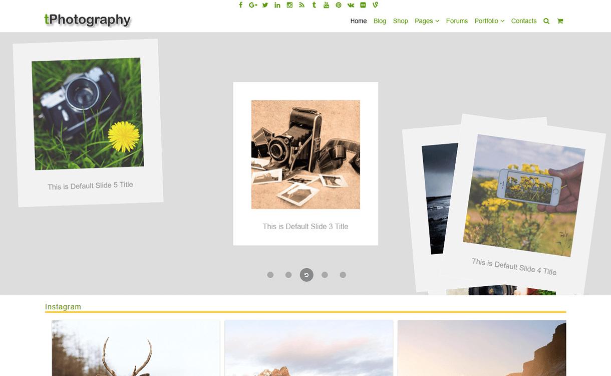 fPhotography-Free Photography WordPress Theme