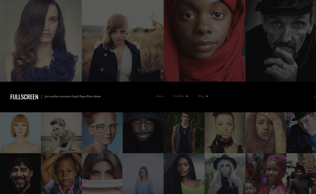 Fullscreen-Free Photography WordPress Theme