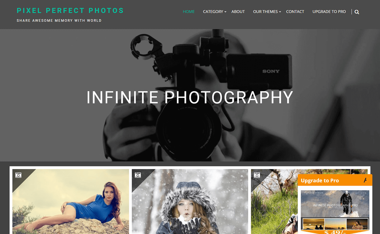 Infinite Photography-Free Photography WordPress Theme