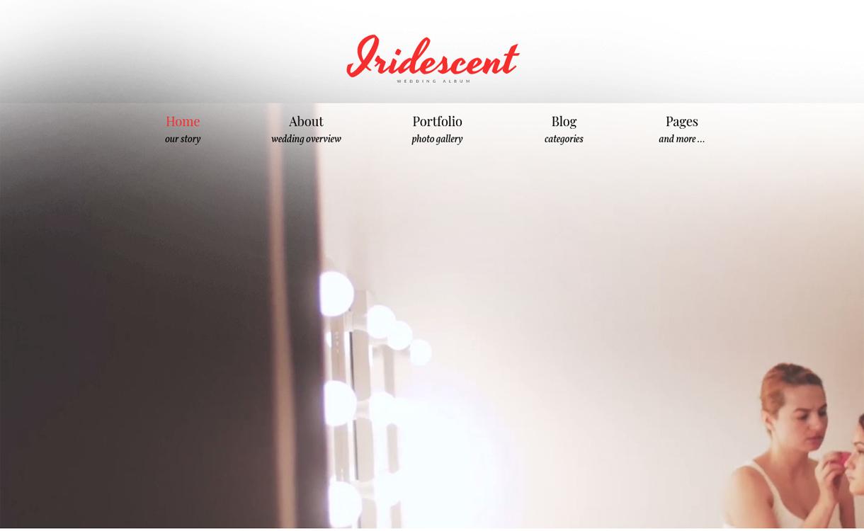Iridescent - Free WordPress Photography Theme