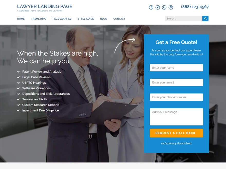 Best Attorney Landing Pages