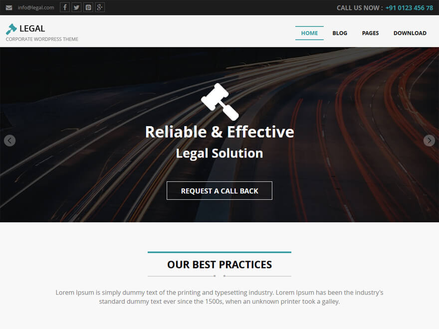 Legal-Free Lawyer WordPress Theme