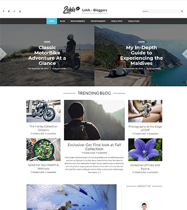 Lekh - Best WordPress Premium Blog Theme