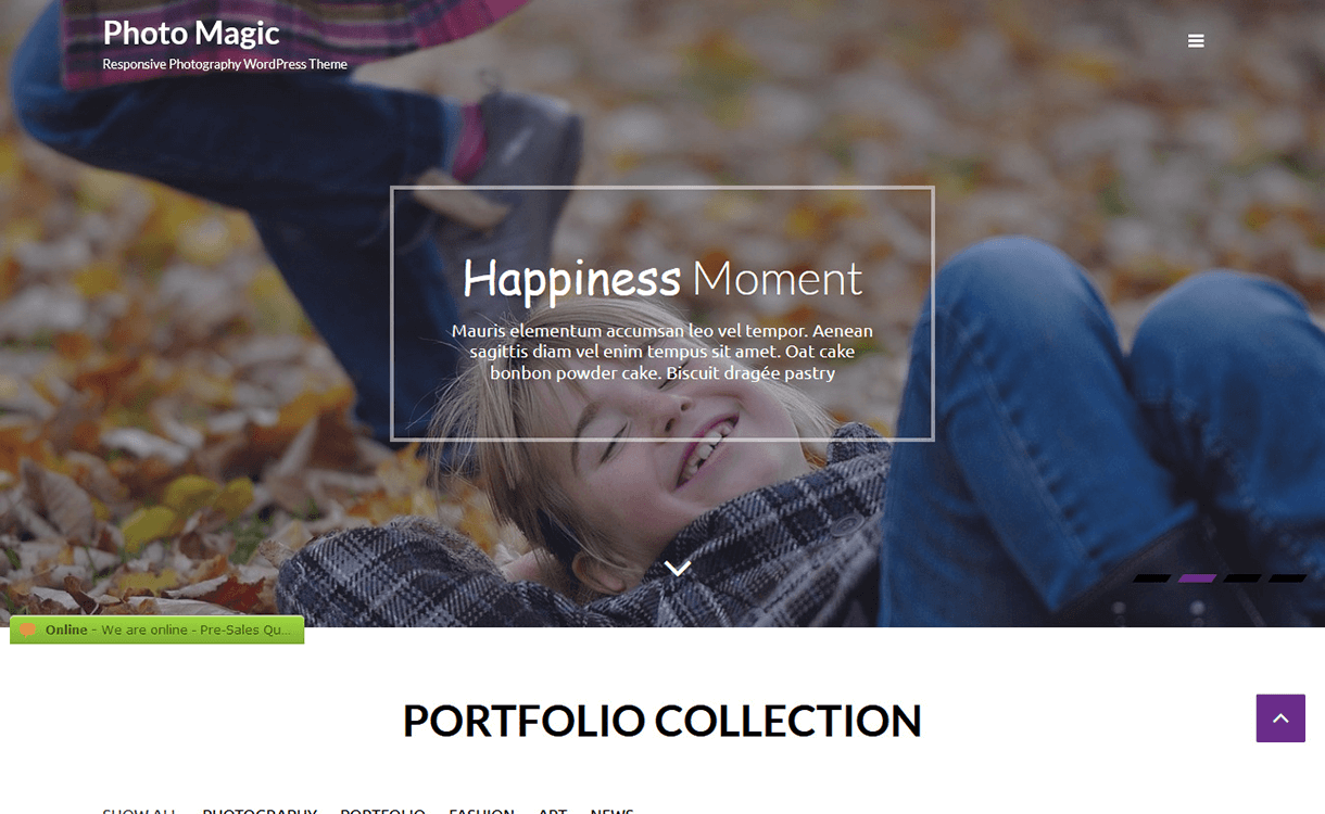Photo Magic-Free Photography WordPress Theme