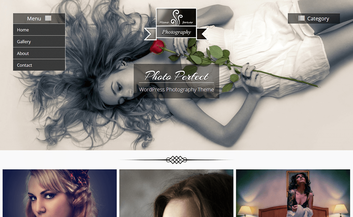 Photo Perfect-Free Photography WordPress Theme