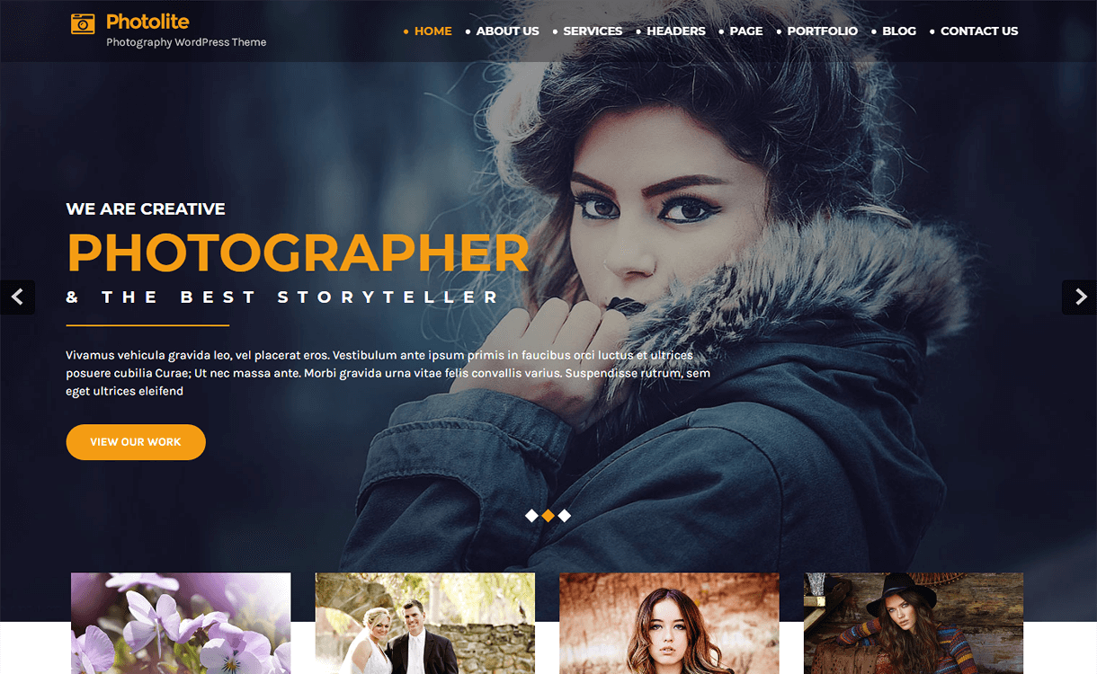 Photo Lite-Free Photography WordPress Theme