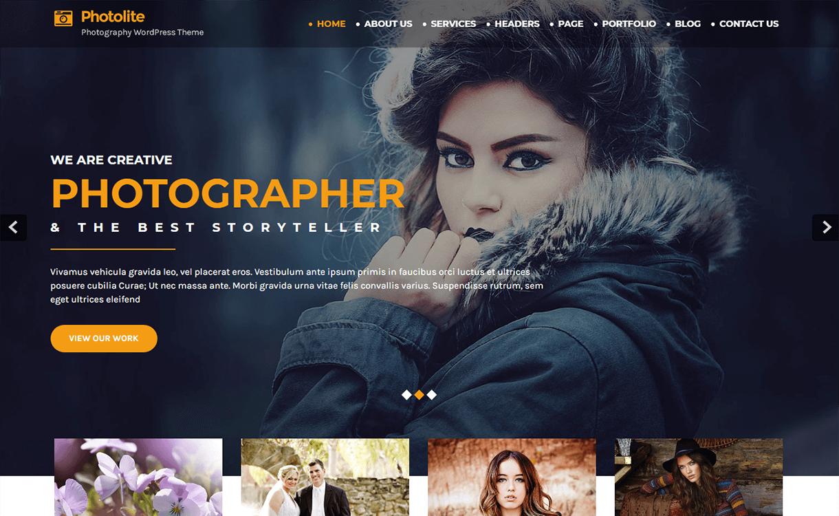 Photo Lite-Free Photography WordPress Theme