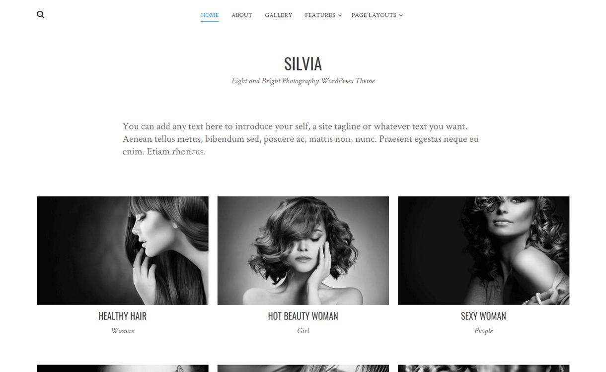 Silvia-Free Photography WordPress Theme