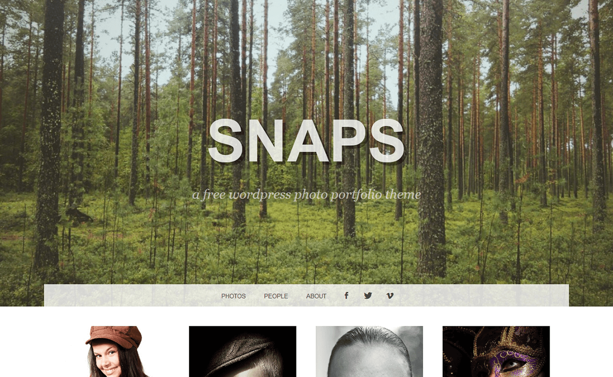 Snaps-Free Photography WordPress Theme